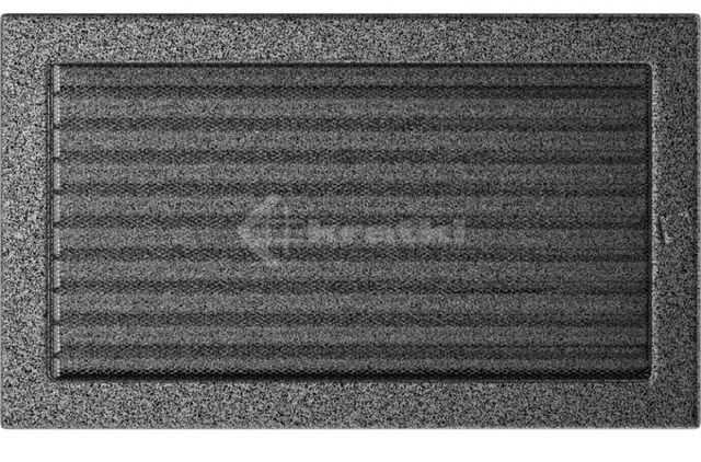Решетка для камина Kratki 22х37 черно-серебряная, с жалюзи. Фото 2