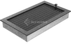 Решетка для камина Kratki 22х37 черно-серебряная, с жалюзи. Фото 3