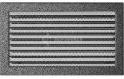 Решетка для камина Kratki 22х37 черно-серебряная, с жалюзи