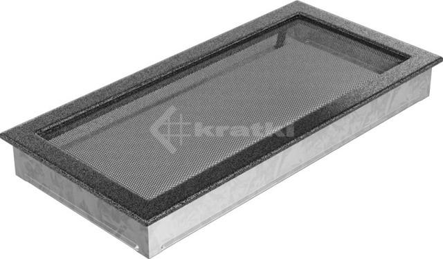 Решетка для камина Kratki 22х45 черно-серебряная. Фото 2