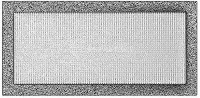 Решетка для камина Kratki 22х45 черно-серебряная