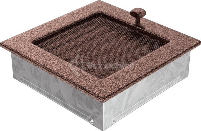 Решетка для камина Kratki 17х17 медная, с жалюзи. Фото 3