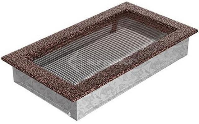 Решетка для камина Kratki 17х30 медная. Фото 2