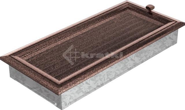 Решетка для камина Kratki 17х37 медная, с жалюзи. Фото 3
