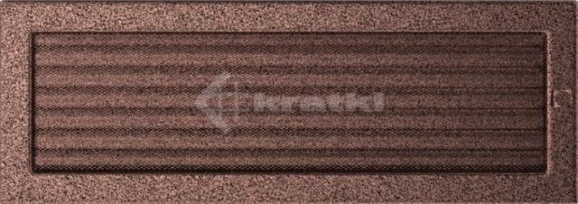 Решетка для камина Kratki 17х49 медная, с жалюзи. Фото 2