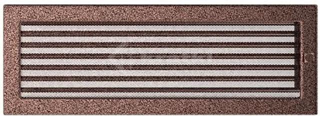 Решетка для камина Kratki 17х49 медная, с жалюзи