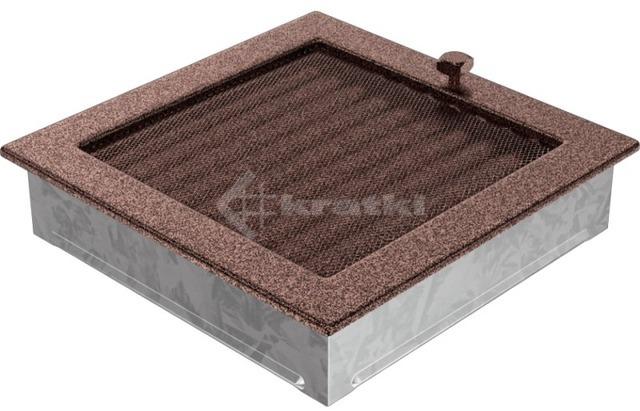 Решетка для камина Kratki 22х22 медная, с жалюзи. Фото 3