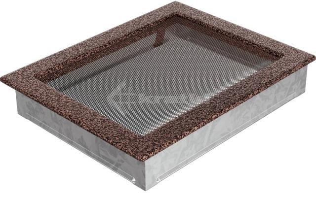 Решетка для камина Kratki 22х30 медная. Фото 2