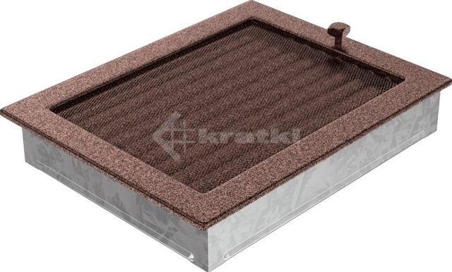 Решетка для камина Kratki 22х30 медная, с жалюзи. Фото 3