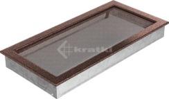 Решетка для камина Kratki 22х45 медная. Фото 2
