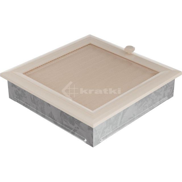 Решетка для камина Kratki Oskar 22х22 кремовая, с жалюзи. Фото 2