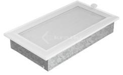 Решетка для камина Kratki Oskar 17х30 белая. Фото 2