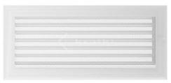 Решетка для камина Kratki Oskar 17х37 белая, с жалюзи