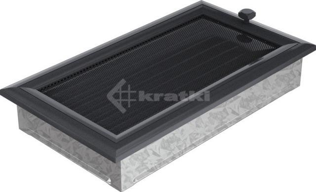 Решетка для камина Kratki Oskar 17х30 графитовая, с жалюзи. Фото 2