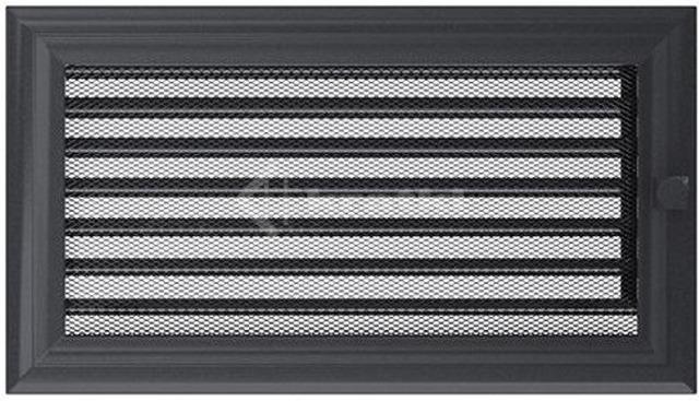 Решетка для камина Kratki Oskar 17х30 графитовая, с жалюзи