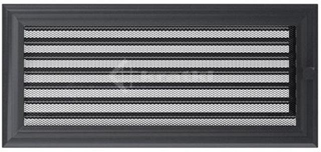 Решетка для камина Kratki Oskar 17х37 графитовая, с жалюзи