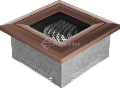 Решетка для камина Kratki Oskar 11x11 медная. Фото 2
