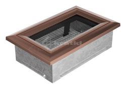 Решетка для камина Kratki Oskar 11х17 медная. Фото 2