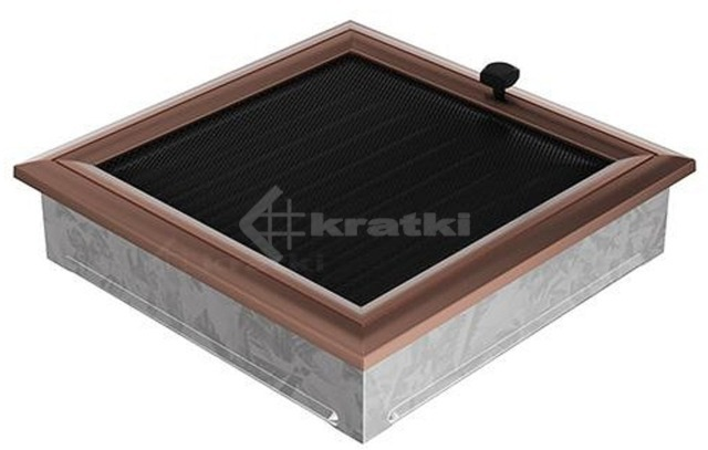 Решетка для камина Kratki Oskar 22х22 медная, с жалюзи. Фото 2