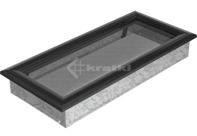 Решетка для камина Kratki Oskar 17х37 черная. Фото 2