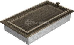 Решетка для камина Kratki Oskar 17х30 черно-золотая, с жалюзи. Фото 2