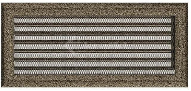 Решетка для камина Kratki Oskar 17х37 черно-золотая, с жалюзи