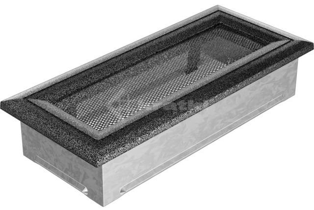 Решетка для камина Kratki Oskar 11х24 черно-серебряная. Фото 2