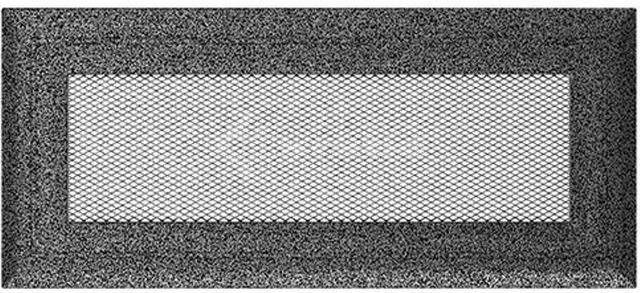 Решетка для камина Kratki Oskar 11х24 черно-серебряная