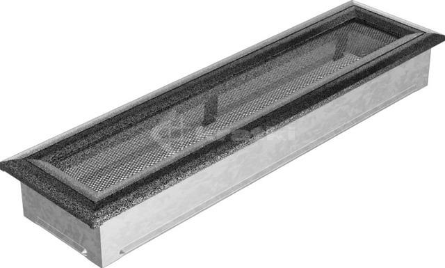 Решетка для камина Kratki Oskar 11х42 черно-серебряная. Фото 2