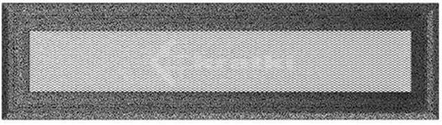 Решетка для камина Kratki Oskar 11х42 черно-серебряная