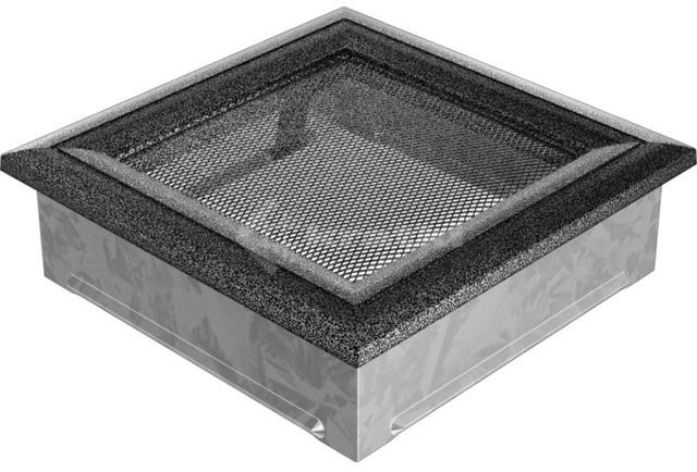 Решетка для камина Kratki Oskar 17х17 черно-серебряная. Фото 2