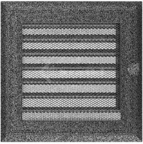 Решетка для камина Kratki Oskar 17х17 черно-серебряная, с жалюзи