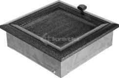 Решетка для камина Kratki Oskar 17х17 черно-серебряная, с жалюзи. Фото 2