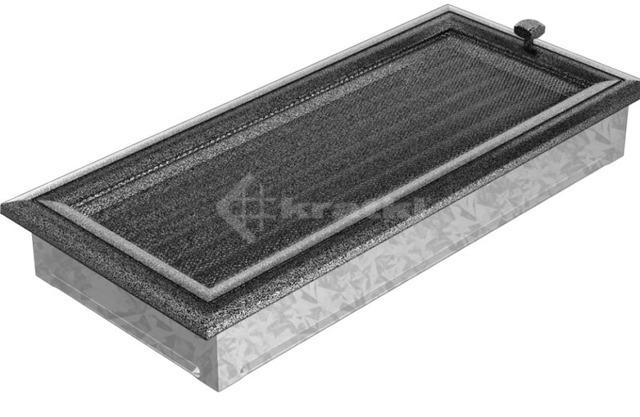 Решетка для камина Kratki Oskar 17х37 черно-серебряная, с жалюзи. Фото 2