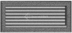 Решетка для камина Kratki Oskar 17х37 черно-серебряная, с жалюзи