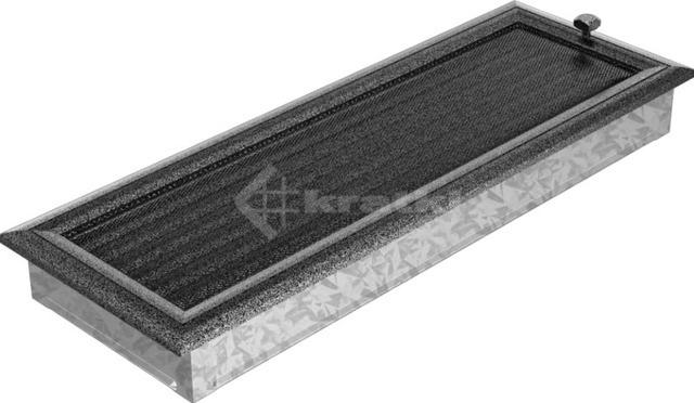Решетка для камина Kratki Oskar 17х49 черно-серебряная, с жалюзи. Фото 2