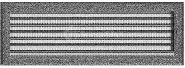 Решетка для камина Kratki Oskar 17х49 черно-серебряная, с жалюзи