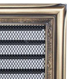 Решетка для камина Kratki 17х17 рустикальная, с жалюзи. Фото 2