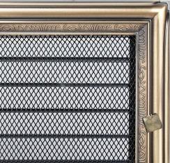 Решетка для камина Kratki 17х37 рустикальная, с жалюзи. Фото 2
