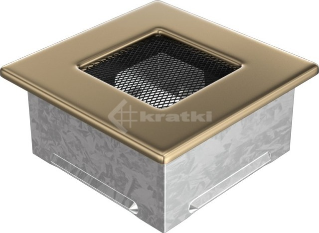 Решетка для камина Kratki 11x11 позолоченная. Фото 2