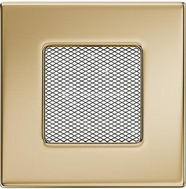 Решетка для камина Kratki 11x11 позолоченная