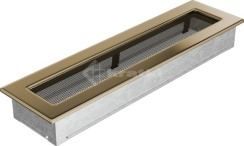 Решетка для камина Kratki 11х42 позолоченная. Фото 2