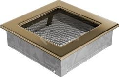 Решетка для камина Kratki 17х17 позолоченная. Фото 2