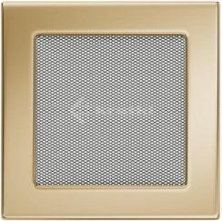 Решетка для камина Kratki 17х17 позолоченная