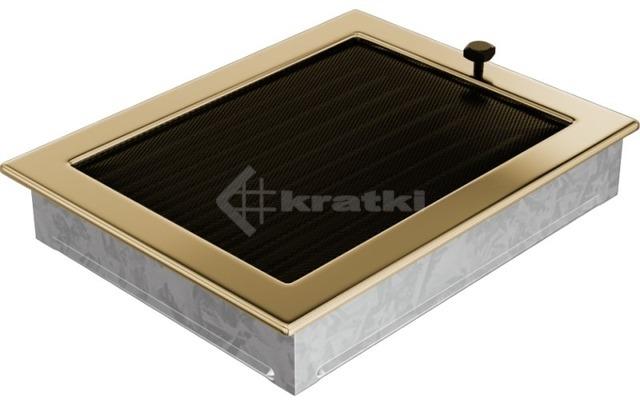 Решетка для камина Kratki 22х30 позолоченная, с жалюзи. Фото 3