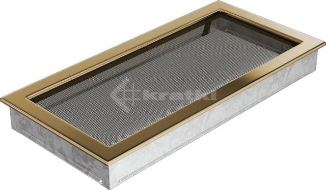 Решетка для камина Kratki 22х45 позолоченная. Фото 2