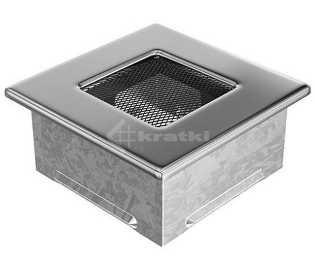 Решетка для камина Kratki 11x11 никелированная. Фото 2