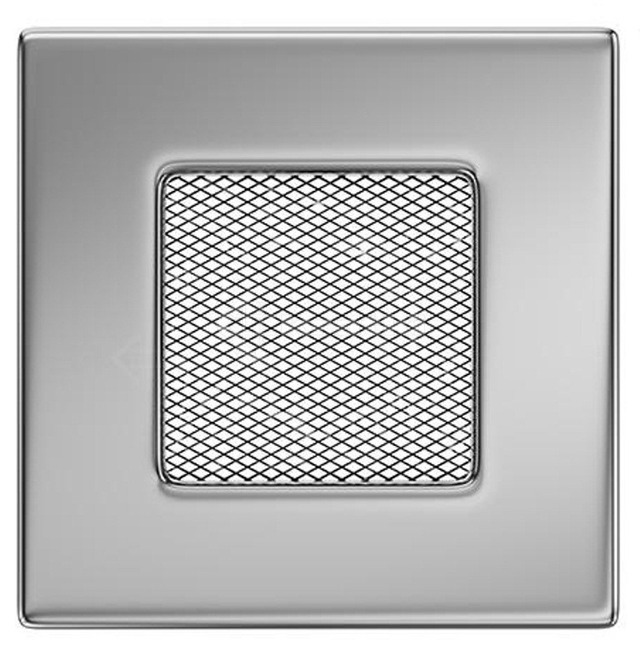 Решетка для камина Kratki 11x11 никелированная