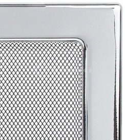 Решетка для камина Kratki 11x11 никелированная. Фото 3
