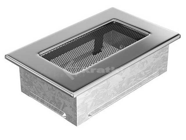 Решетка для камина Kratki 11х17 никелированная. Фото 2